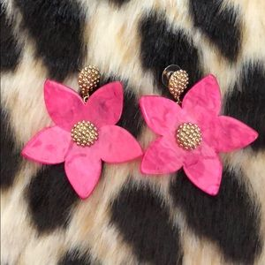 Pink floral earring
